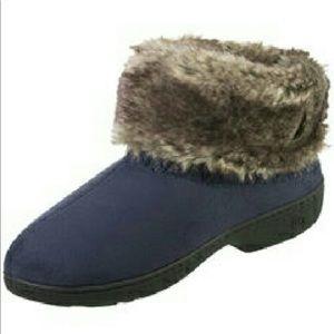 Isotoner signature microsuede bootie slippers